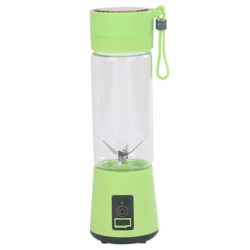 420Ml Portable Juicer Glass Bottle Juicer USB Rechargeable