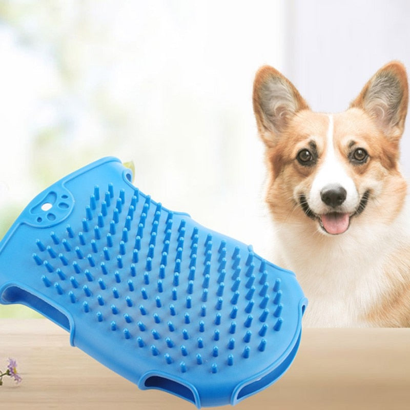 New Pet Dog Cat Bath Brush Comb Silicone Glove