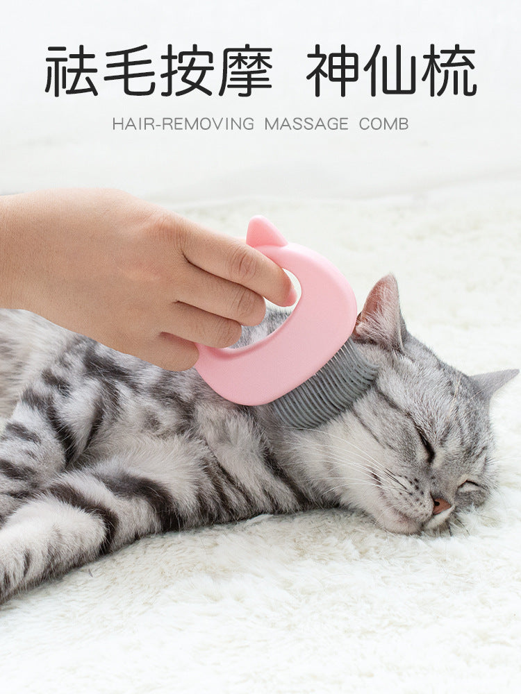 Cat with Hair Remover Cat Ear Shell Comb Pet Comb