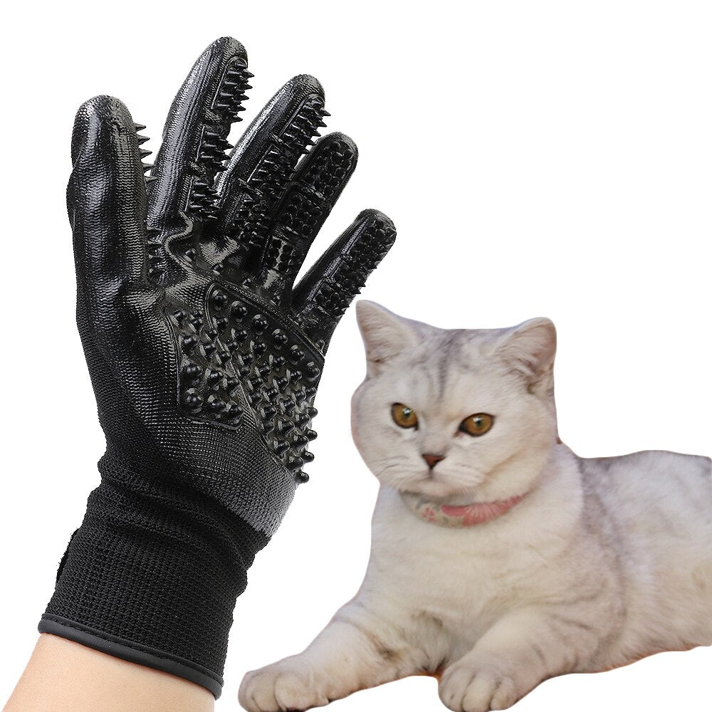 Pet Glove Dog Cat Hair Cleaning Brush Shower Comb Bath Clean Massage