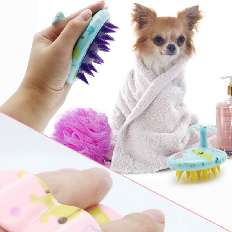 Comfortable Pet Brush Grooming Dog Puppy Cat Washing Cheaning Bath Brush