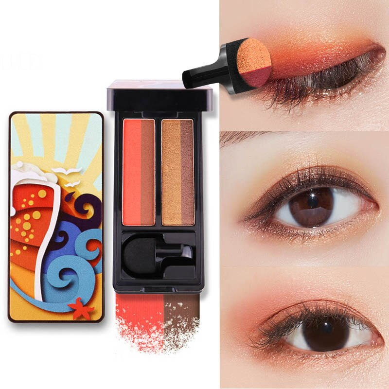 ICYCHEER Lazy Eyeshadow Stamp -Mixed Colour Eye Shadow Tray، Eye Shadow