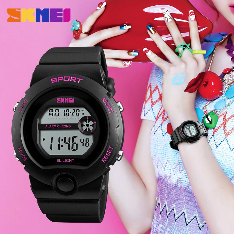 I Silicone Waterproof LED Digital Watch