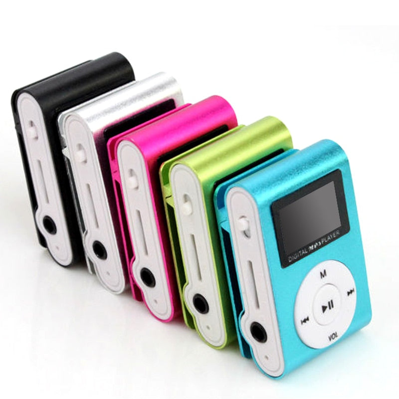 Mini USB Clip MP3 Player LCD 3.5 mm jack support 32GB