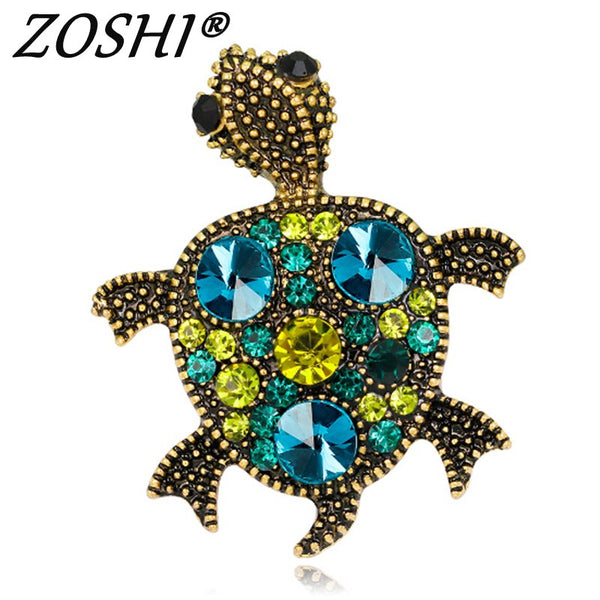 ZOSHI Tortoise With Glasses Shape Brooch