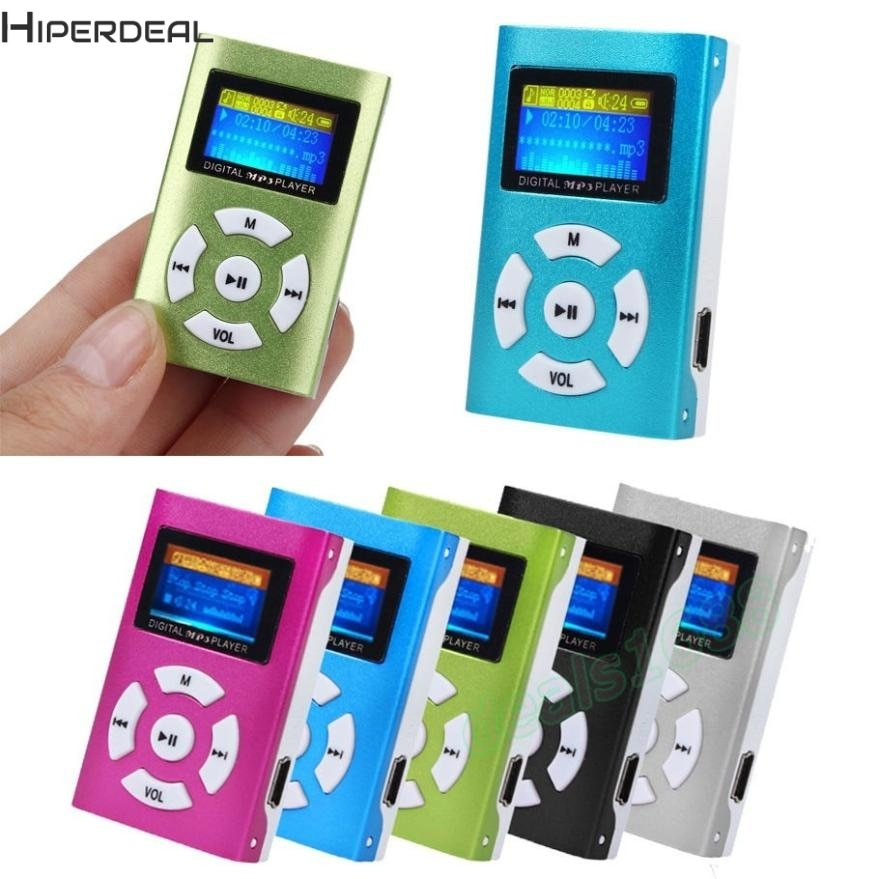 Hiperdeal USB Mini MP3 Player LCD Screen Screen Support 32GB