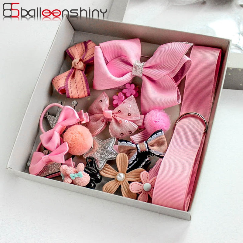 BalleenShiny 18Pcs/set Headwear Set Baby Girls