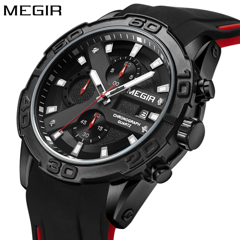 Men Sport Rubber Military Watch