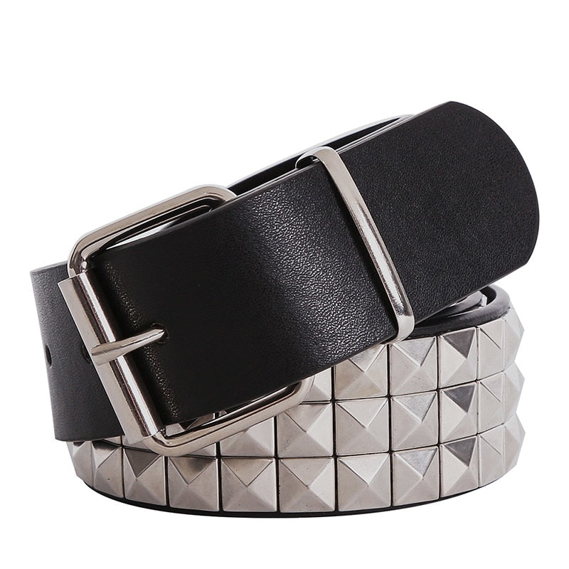 Shiny Pyramid Fashion Rivet Belt