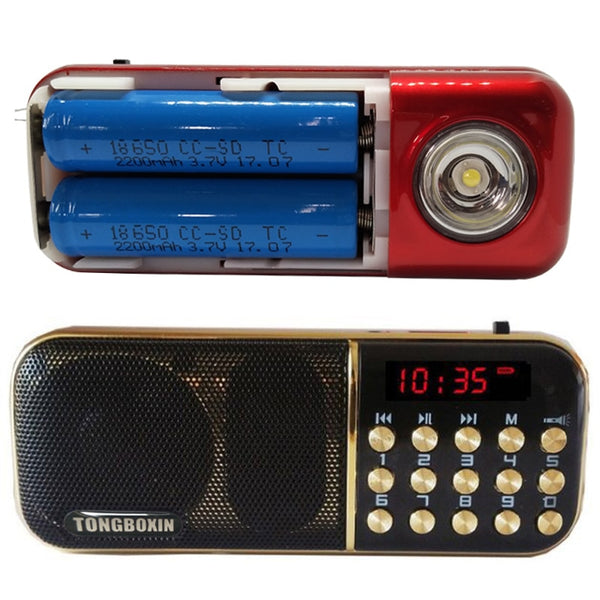 B-851SS With Strong LED Flashlight Portable FM Radio Speaker