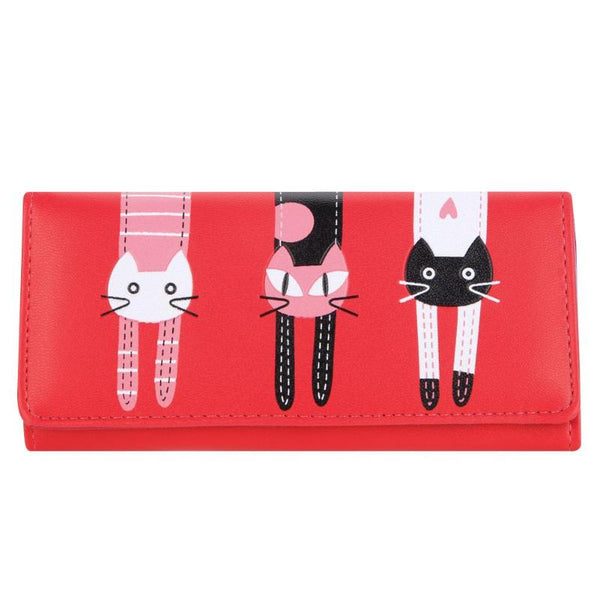 Candy Color Cat Printed Wallet