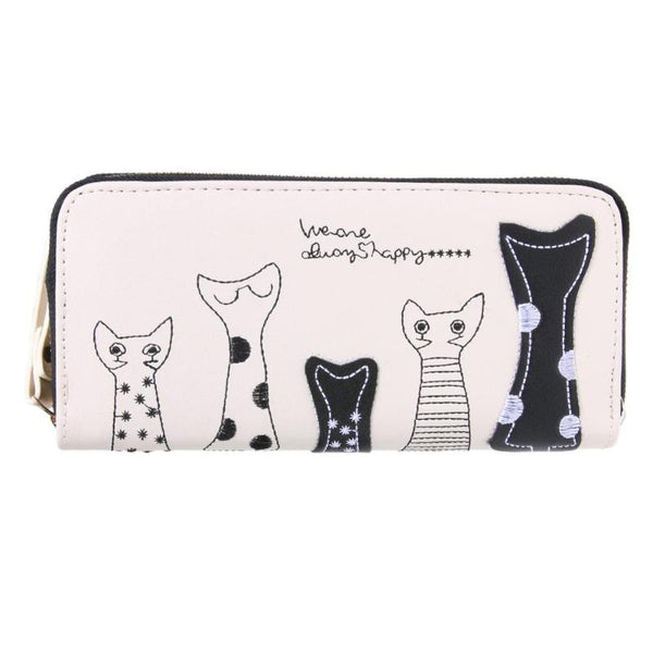 Cute Women Cat Cartoon Wallet