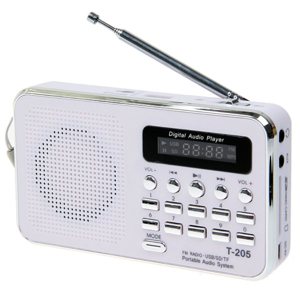 Hot Sale T- 205 FM Radio Portable HiFi Card Speaker