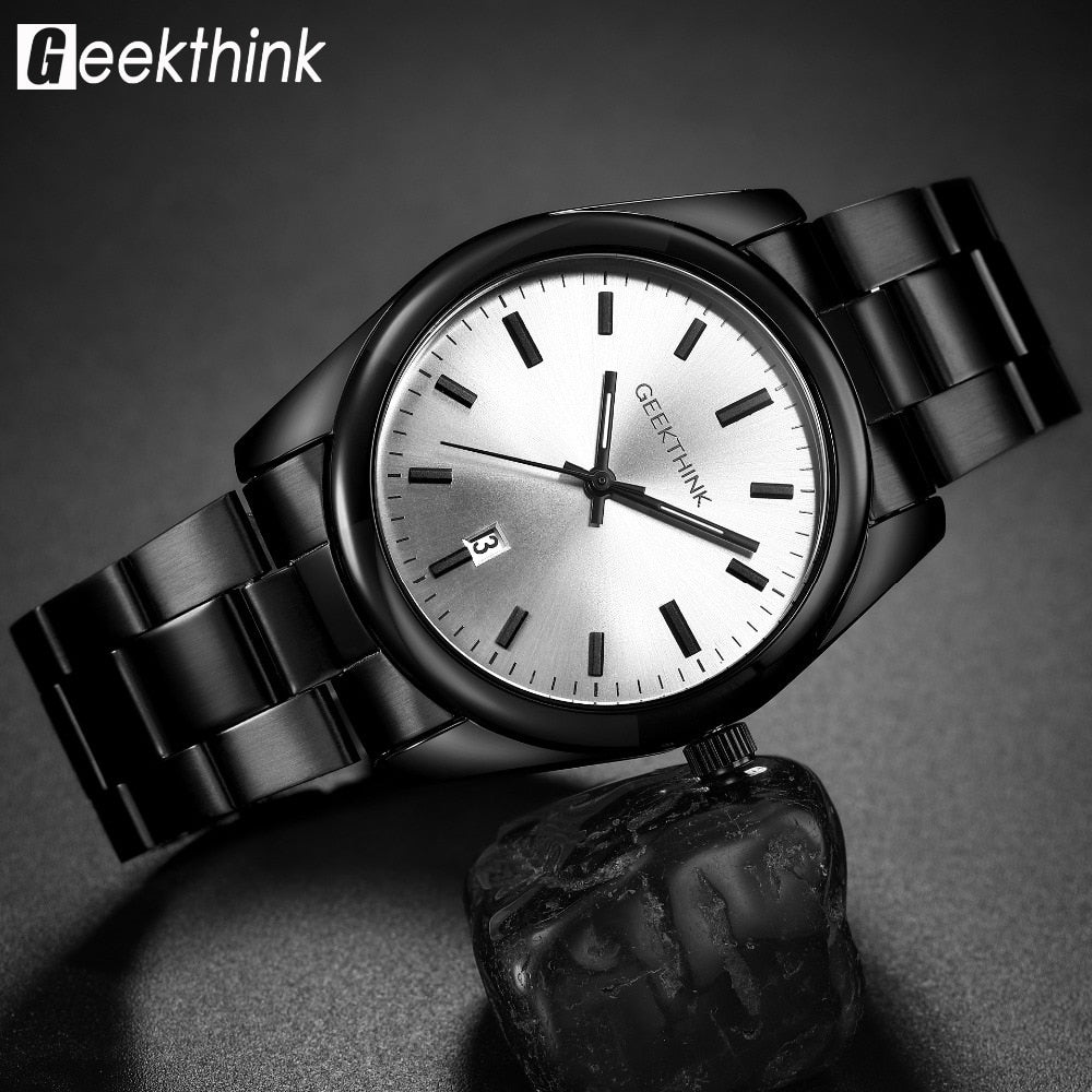 Quartz Analog Men Fashion Black clock