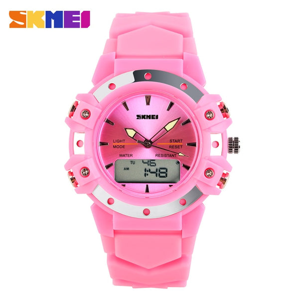 Skmei Dual Time casual digital women/men dress sports jelly military watches