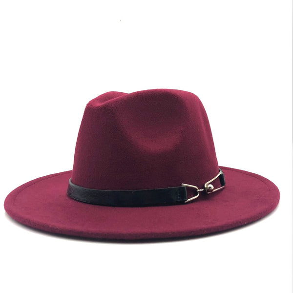 Men Wool Vintage Gangster Trilby Felt Fedora Hat