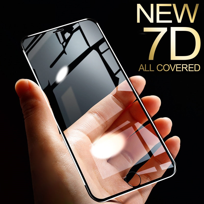 7D Aluminum Alloy Tempered Glass For iPhone 6 6S 7 Plus