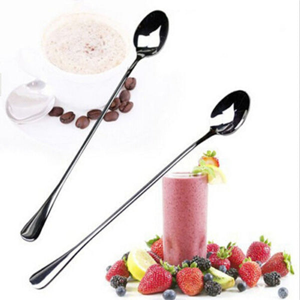 1pcs Stainless Steel Ice Tea Cream Long Handle Spoon