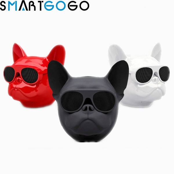 Aerobull Dog Head Bluetooth 4.1 Lanyard Bulldog Bluetooth wireless speaker