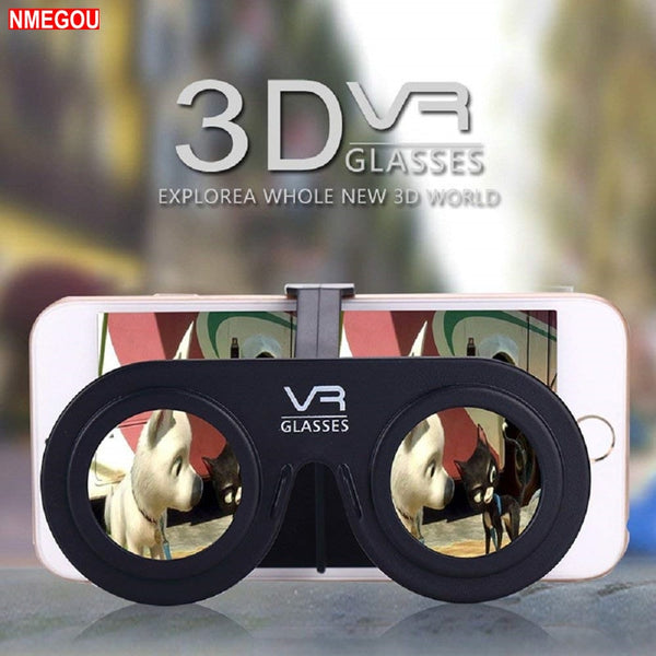 Mini Folding 3D Virtual Reality Cellphone Nearsighted Myopic VR Glasses