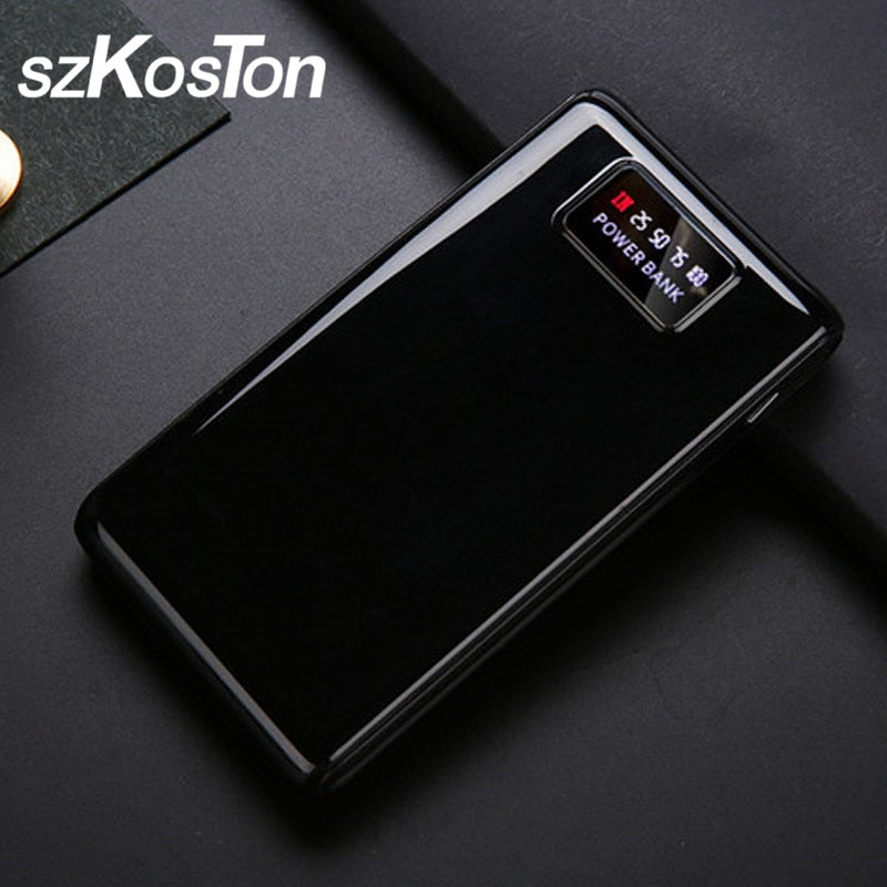 New Type C Micro USB Interface LCD Portable Power Bank