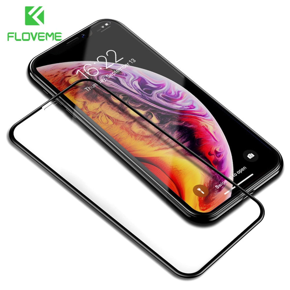 FLOVEME Tempered Glass For iPhone X Xs Max Glass 9H 0.25mm Full Cover Screen Protector