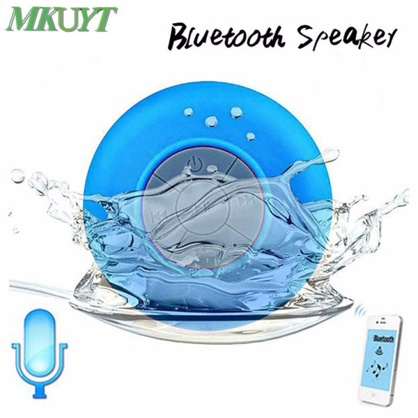 Free Shipping Mini Portable Subwoofer Shower Waterproof Wireless Bluetooth Speaker
