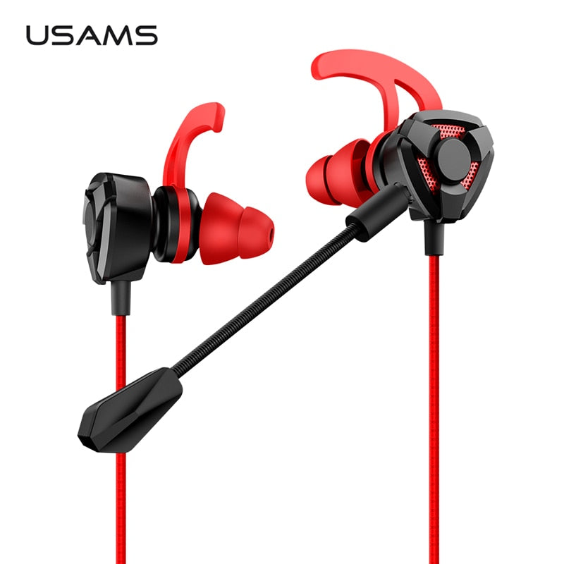 ,USAMS 3.5mm L Stereo Headset Earbuds Wired Game inear Earphone