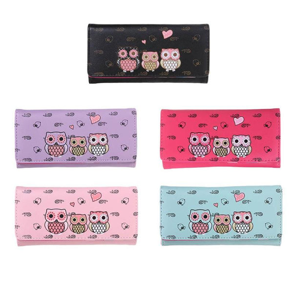 Women Long Bird Prints Wallets