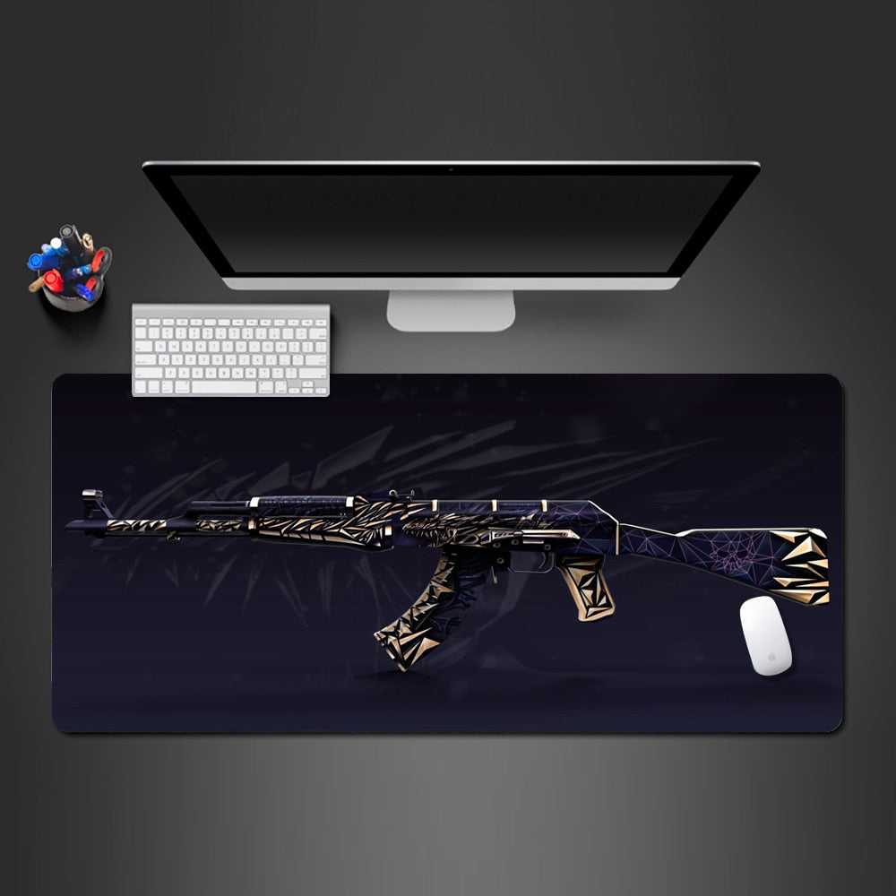 Gold's submachine gun Mouse Pad  Best  Mouse Pad Keyboard Fashion Computer Mouse Pad Higt Quality Laptop Game Pad