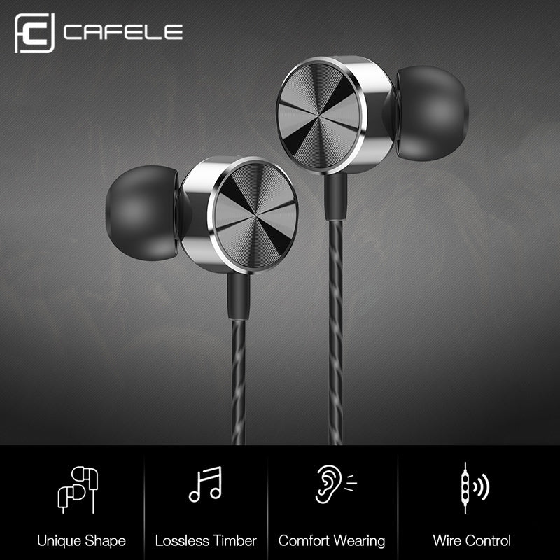CAFELE Professional In-Ear Wired Earphone High fidelity Sound Quality