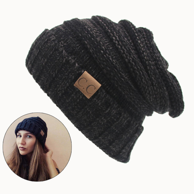 Women Winter Hat Knitted Wool Cap