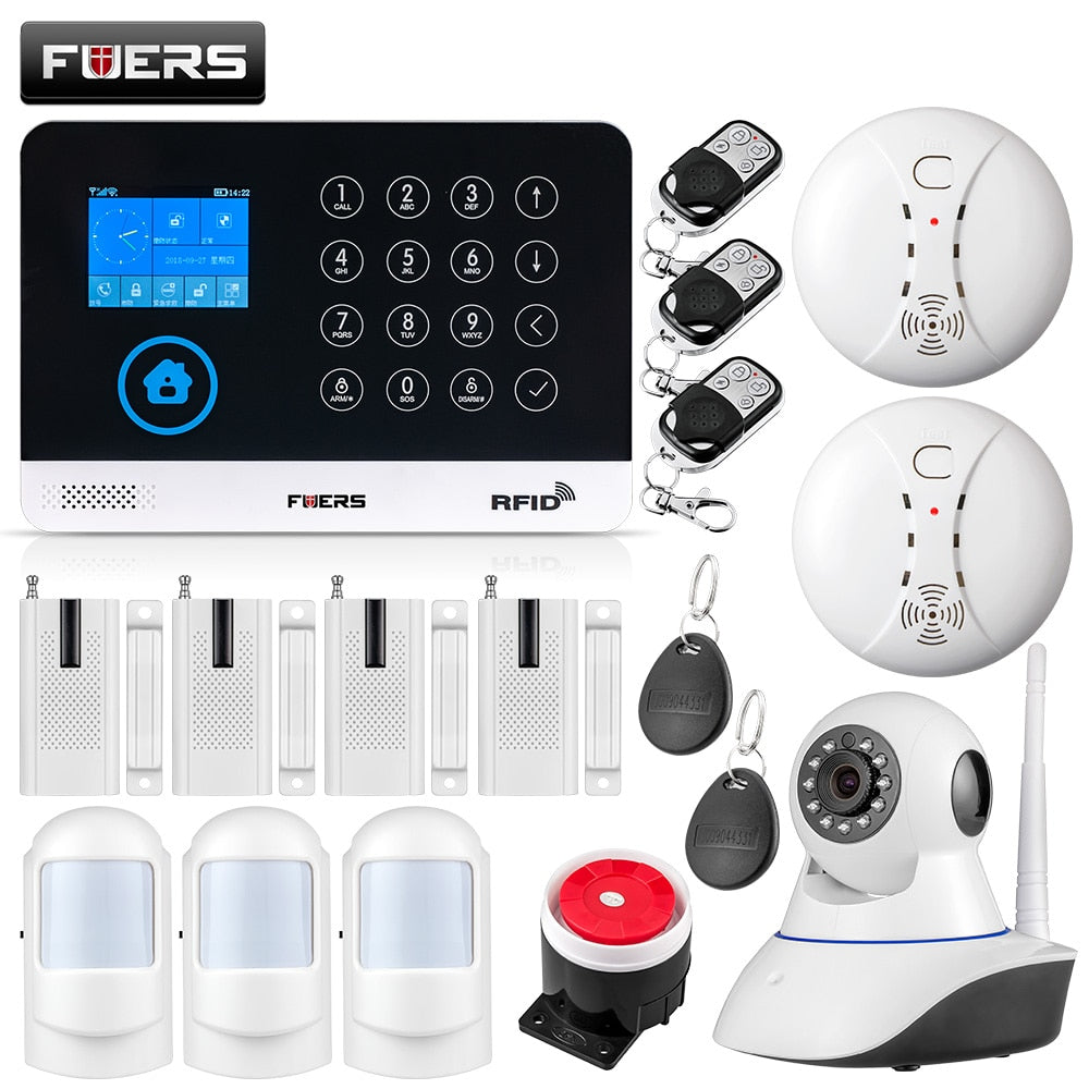 FUERS WG11 WIFI GSM Wireless Home Business نظام إنذار ضد السرقة