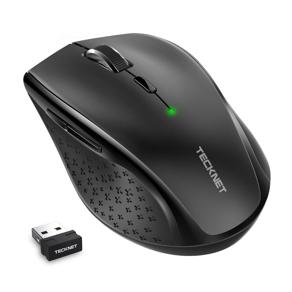 TeckNet Alpha Ergonomic 2.4G Wireless Optical Mobile Mouse