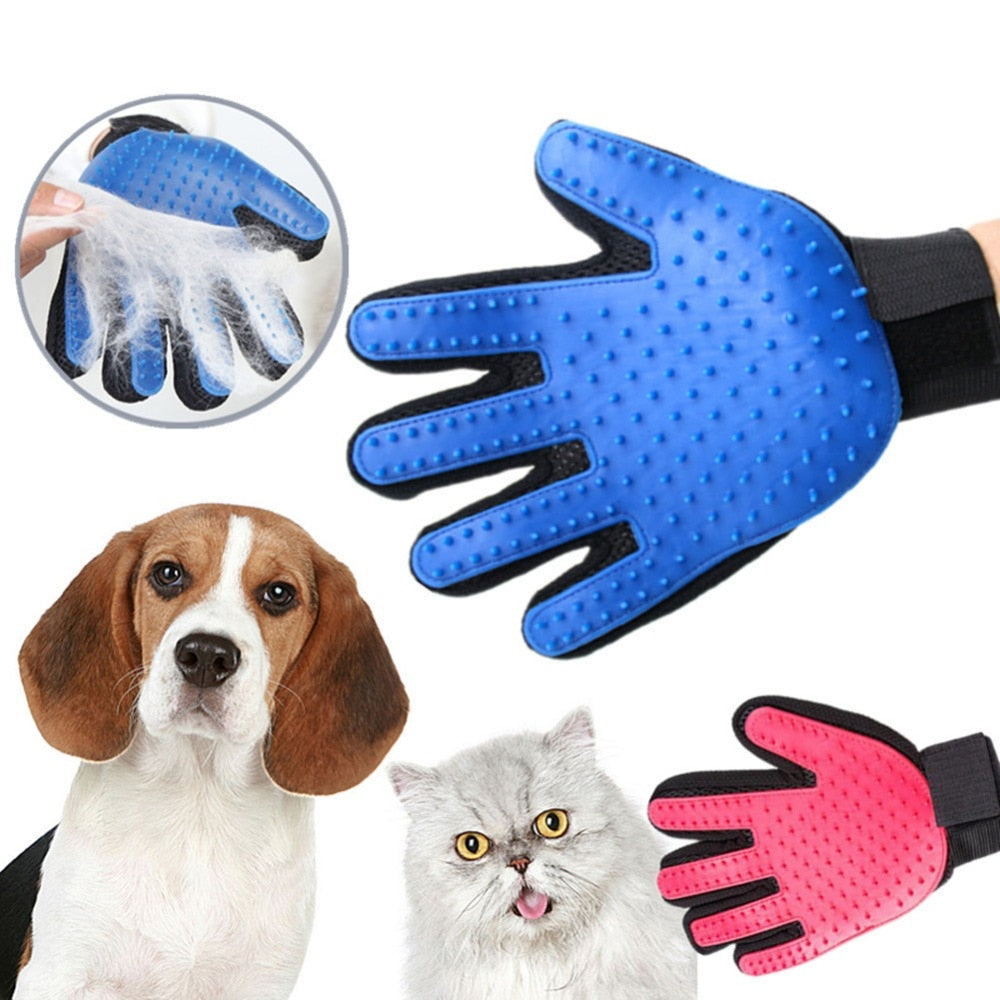 Pet Dog Hair Brush Comb Glove For Pet Cleaning Massage
