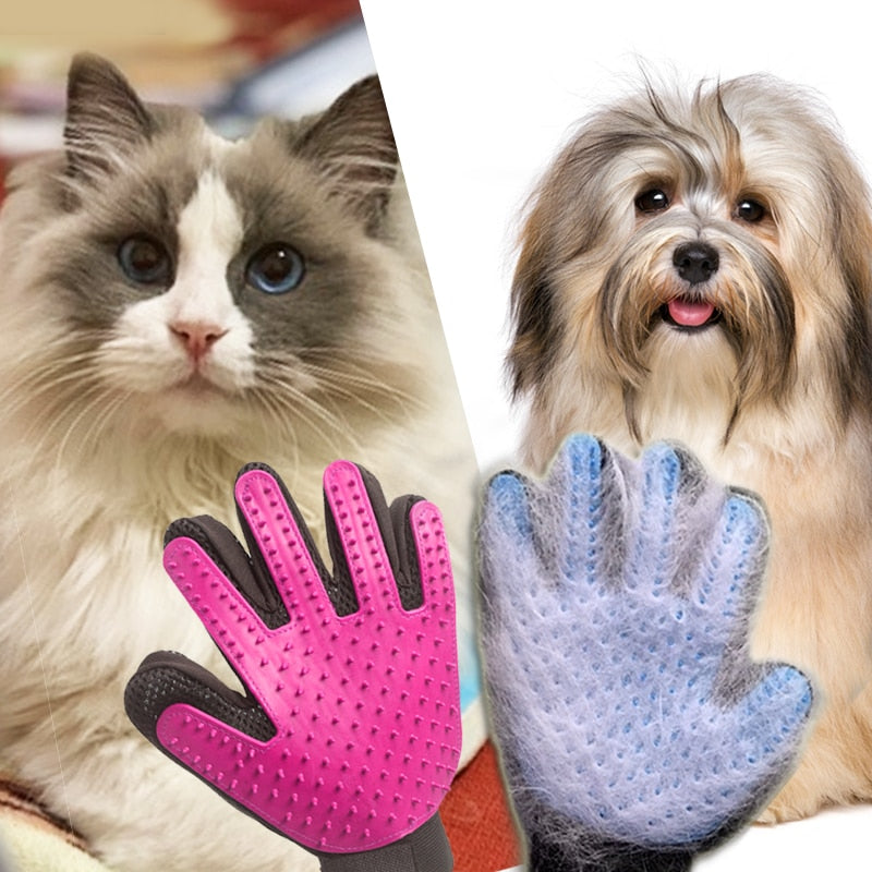 Pet Hair Glove Brush Comb Deshedding Dog For Cat Grooming Cleaning Fur Removal Bathing Detangler Comfortable Massage Hair Tool