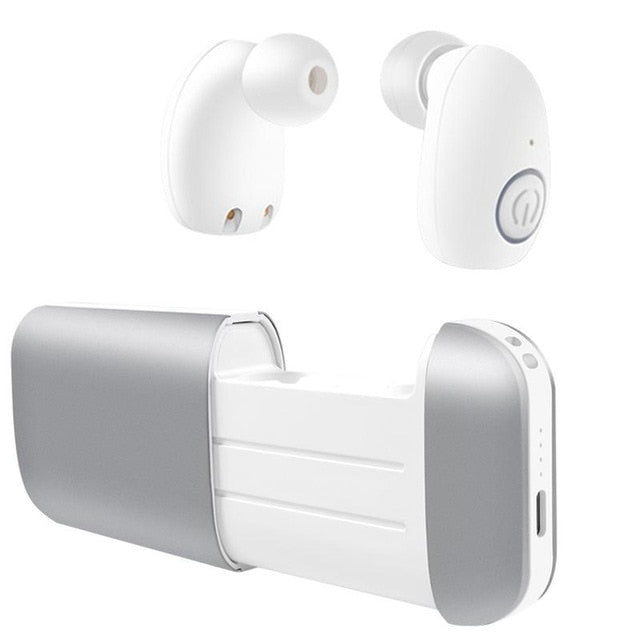 KISSCASE HiFi Sound Bluetooth Earphone for iPhone 7 8 X Stereo In-Earphone Wireless Headphone Headset Headset with Charging Battery