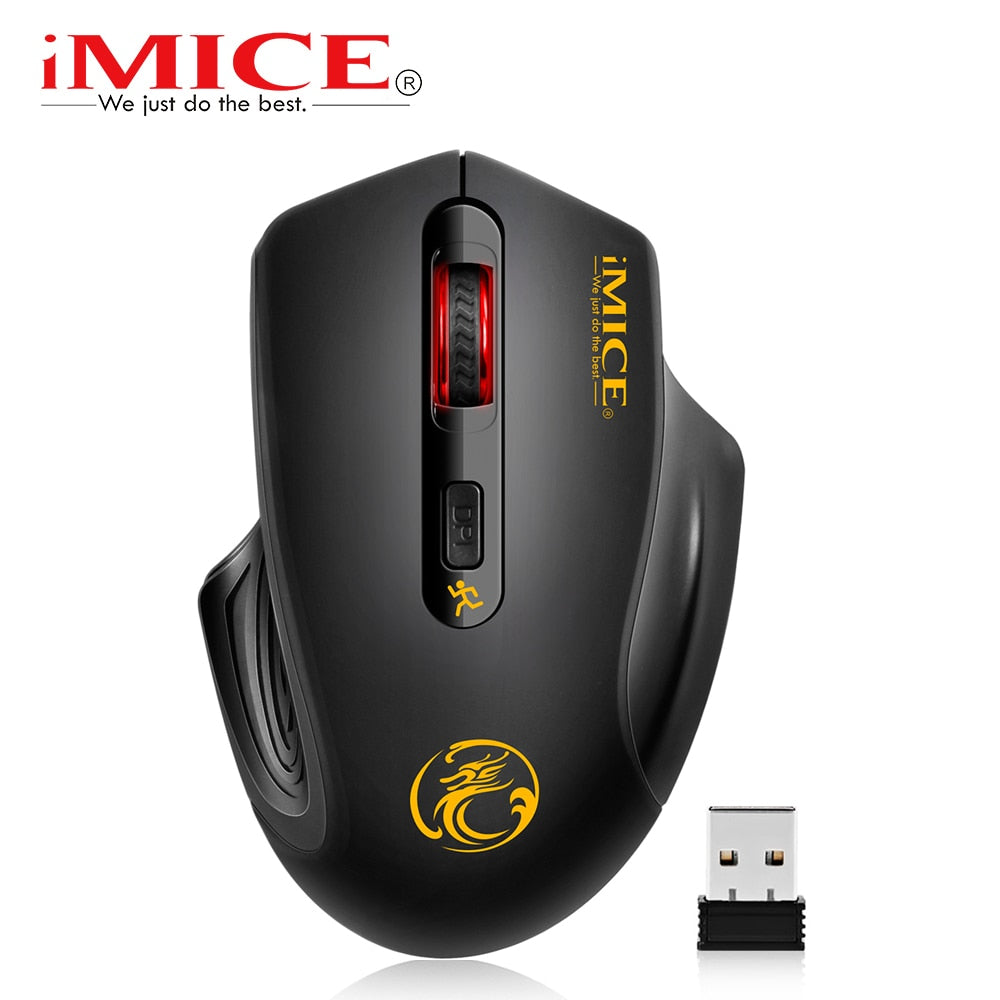 iMice Wireless Mouse 4 أزرار 2000DPI Mause 2.4G بصري USB بصري الماوس