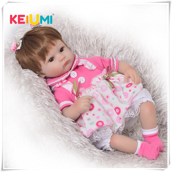 Reborn Baby Doll Toy Soft Silicone Realistic Alive Princess Babies Doll
