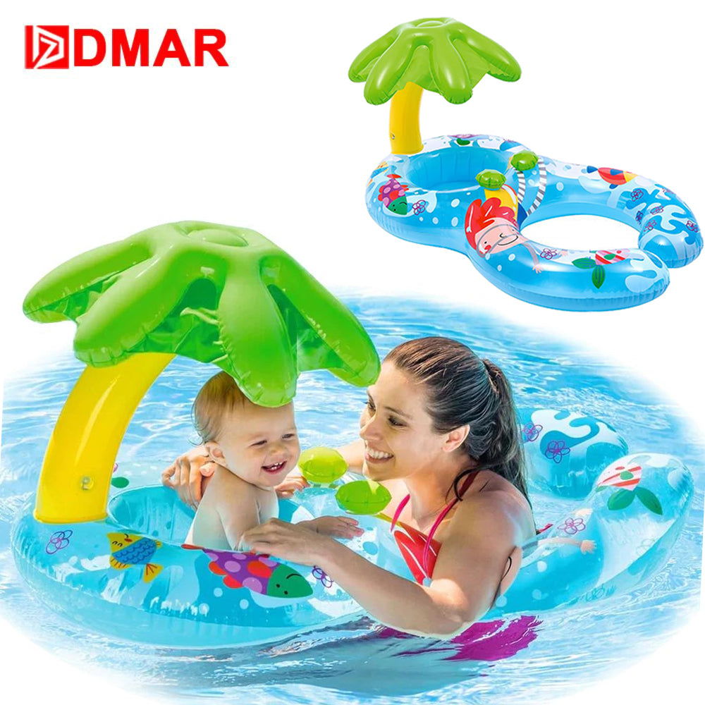 DMAR Inflatable Double Swimming Ring Baby Pool