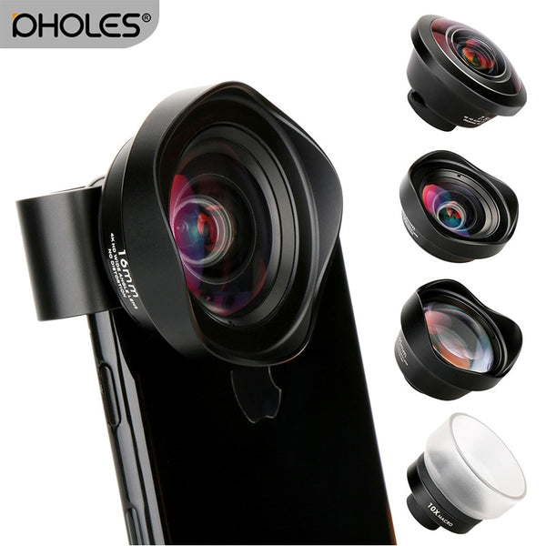 4 in 1 Cell Phone Camera Lens Kit Wide Angle Telephoto lens Macro  Fisheye Lenses