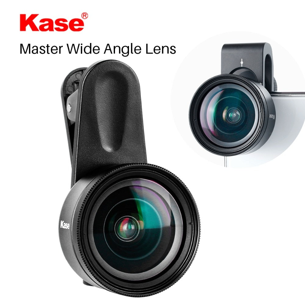 Kase 16MM Master Wide Angle Phone Lens with 58mm Filter Clip-on Mobile Lenses