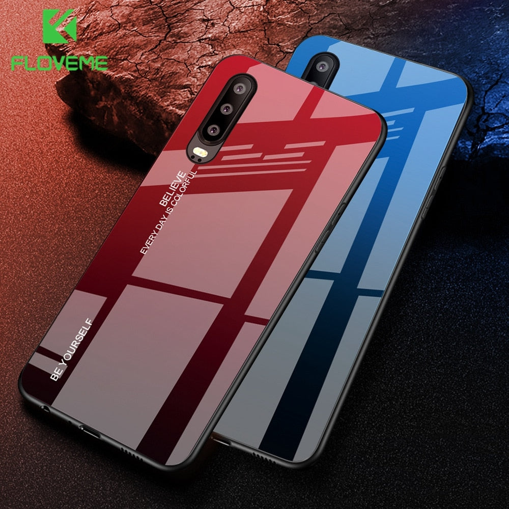 FLOVEME Tempered Glass Phone Case
