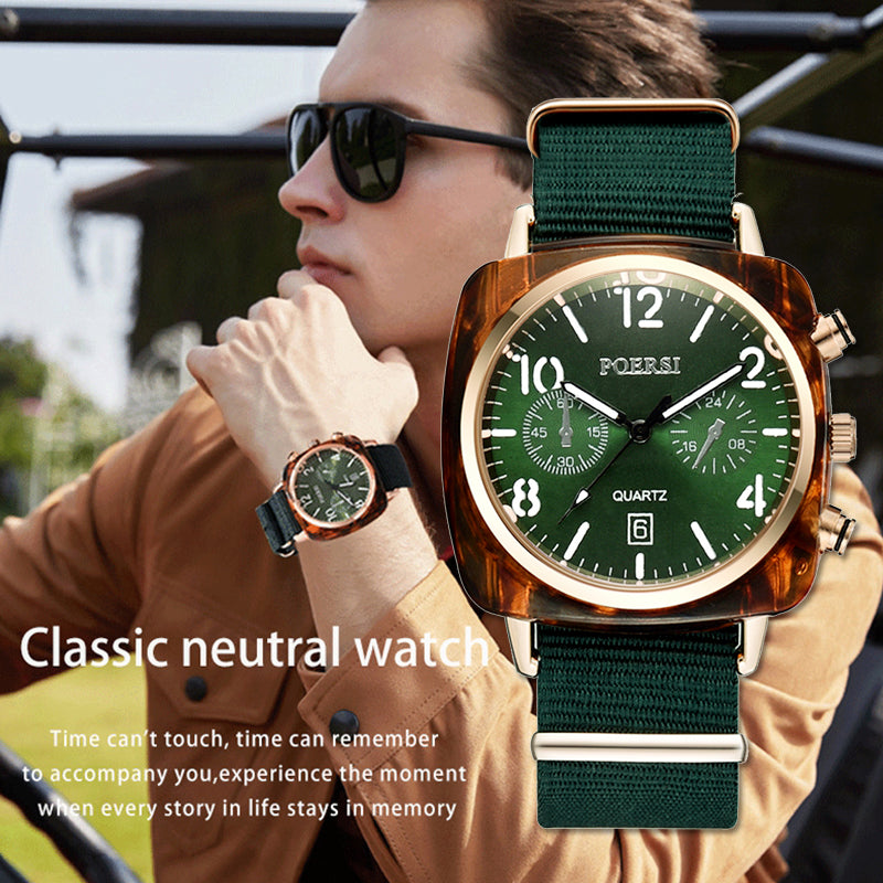 Canvas Strap Dress Quartz Clock Watches