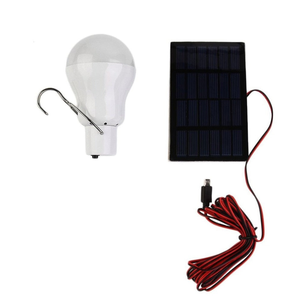 15W 150 Portable Solar Power LED Bulb Solar Powered Light