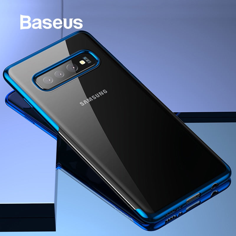 Baseus Luxury Phone Case For Samsung S10 S10+ Ultra Thin Plating Soft Silicone Case For Samsung Galaxy S10 S10+ Phone Cover Capa
