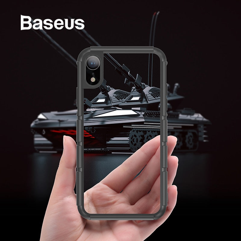 Baseus For iPhone XR Case Durable Silicone PC Hybrid Armor Case For iPhonoe