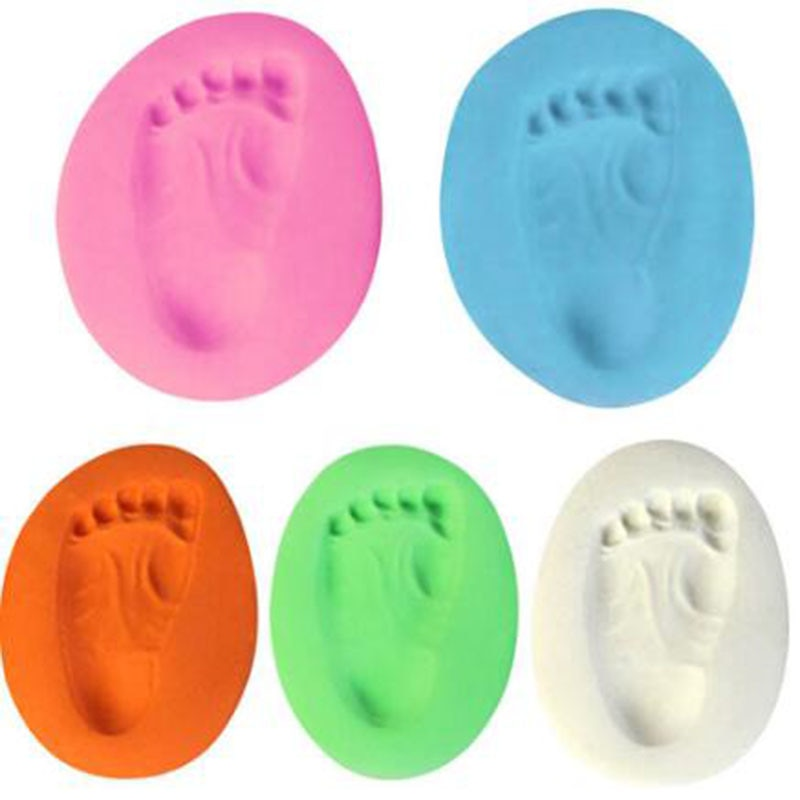 1pc Baby Hand Print Footprint Imprint Kit Casting Baby Air Drying Soft Clay