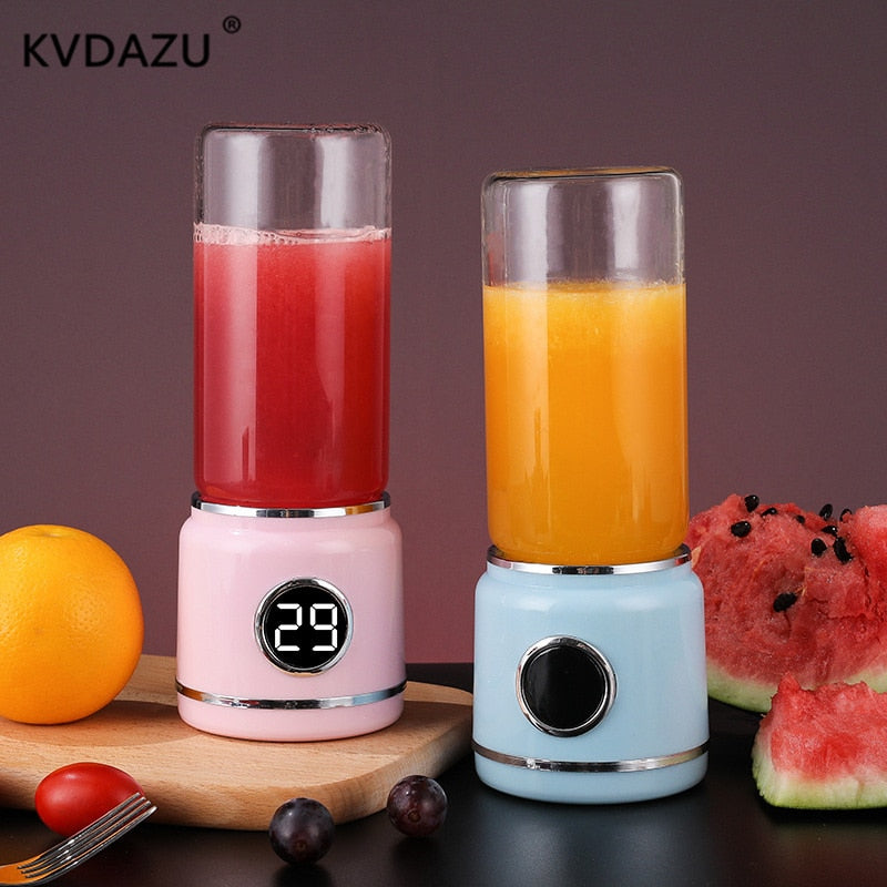 420ml USB Rechargeable Blender Mixer Portable Mini Juicer