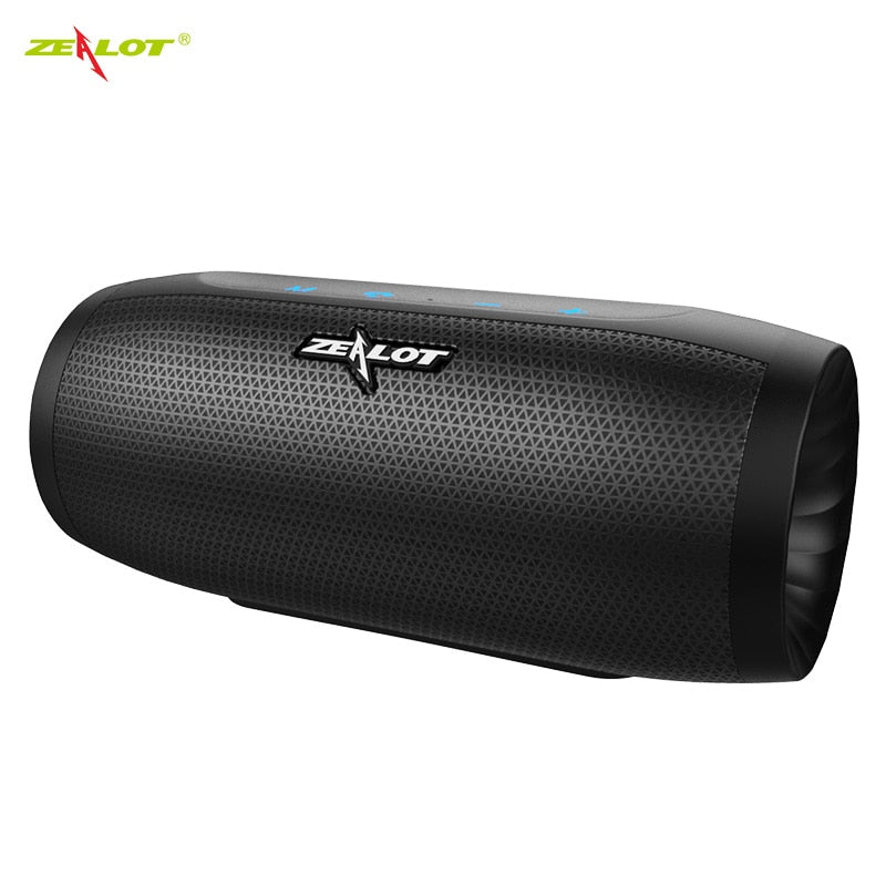 ZEALOT S16 Portable Bluetooth Speaker Outdoor Wireless Bass Column 3D Stereo Sound Subwoofer Waterproof SD/TF Card Slot